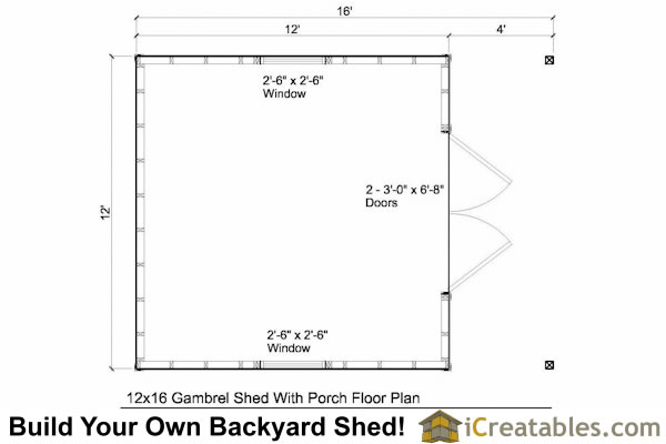 Shed Plans With Porch Top