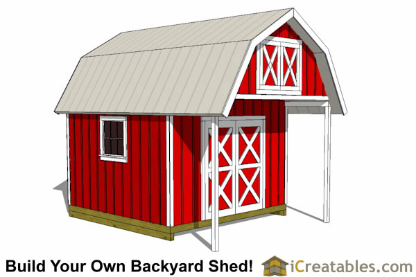 Barn Shed Plans - Classic American Gambrel - DIY Barn Designs