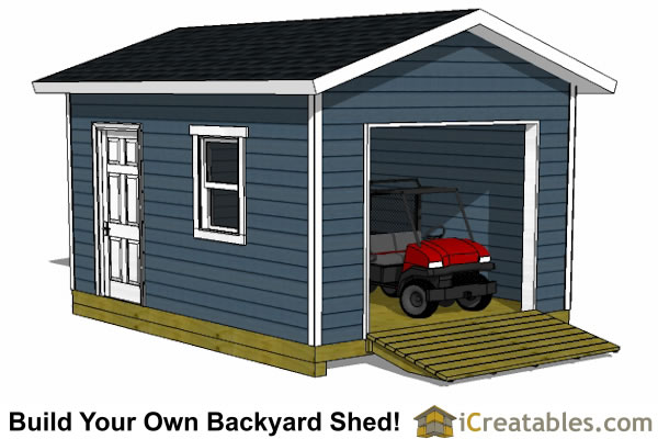 12x16 Shed Plans With Garage Door Icreatables