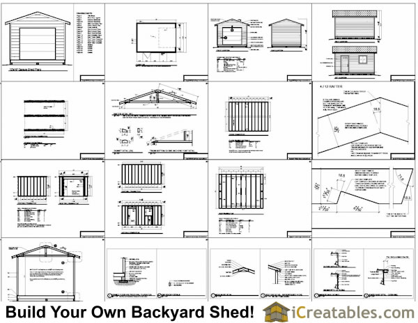 Woodworking 12 16 shed plans pdf plans pdf download free for Gable shed plans