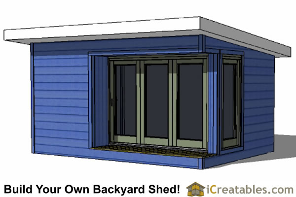12x16 modern shed plans build your backyard office space for Modern shed plans