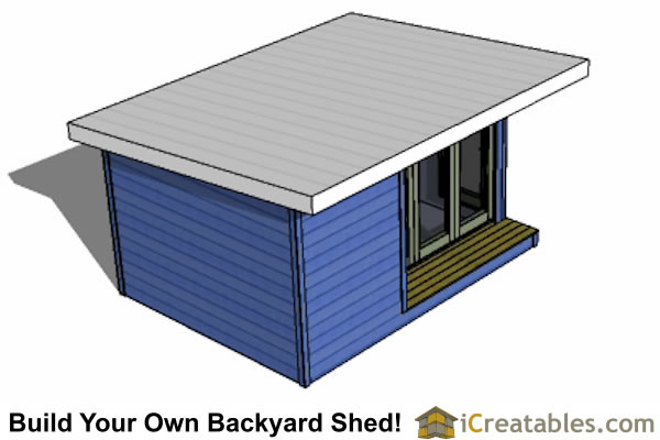 12x16 modern shed plans build your backyard office space for Modern shed prices