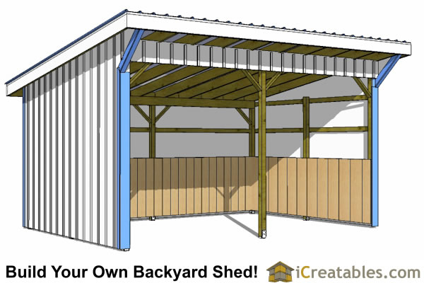 12x20 shed plans easy to build storage shed plans designs for Horse barn plans free