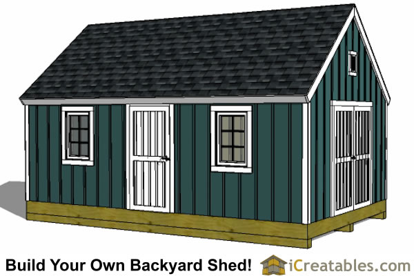 12x20 Colonial Shed Plans | Build a Shed with New England Charm