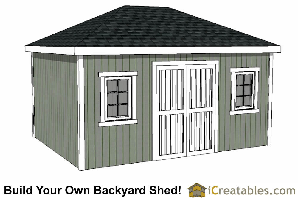 12x20 hip roof shed plans for Shed roof garage plans
