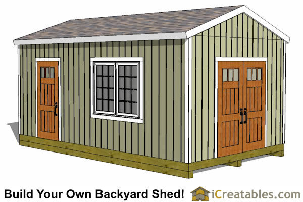 Easy To Build Storage Shed Plans & Designs
