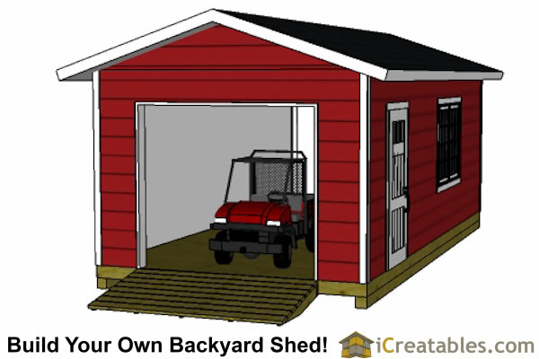 12x24 Shed Plans Easy To Build And Designs