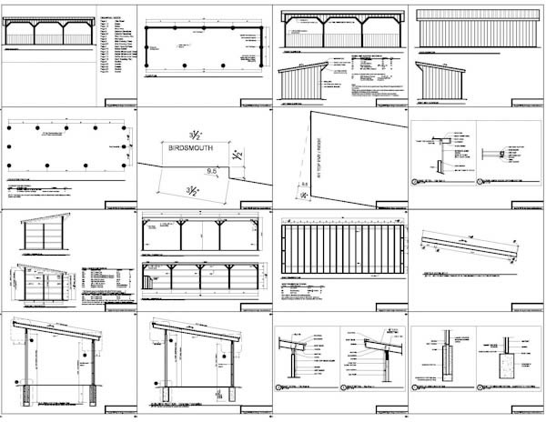 12x36 run in shed plans for Design your own garage plans free