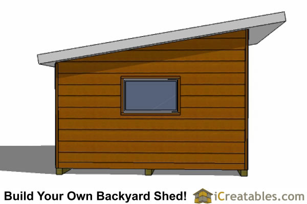 14x16 Modern Studio Shed Plans Icreatables