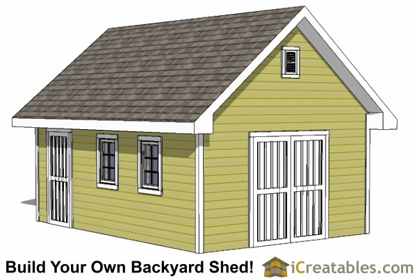 Large Shed Plans - How to Build a Shed - Outdoor Storage Designs