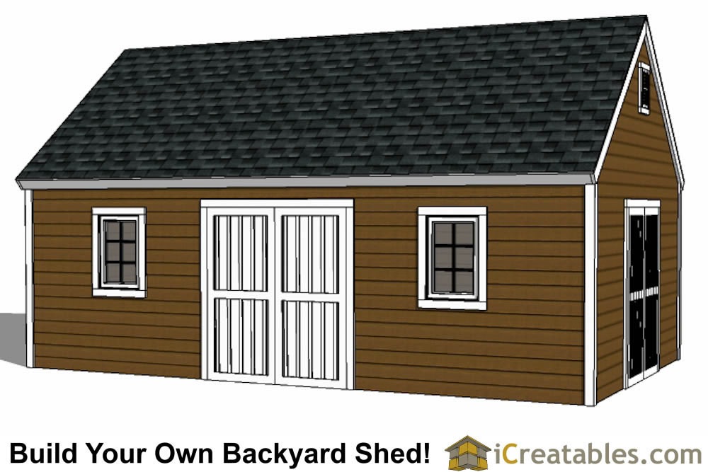 14x24 colonial style shed plans build a large shed for Buy shed plans