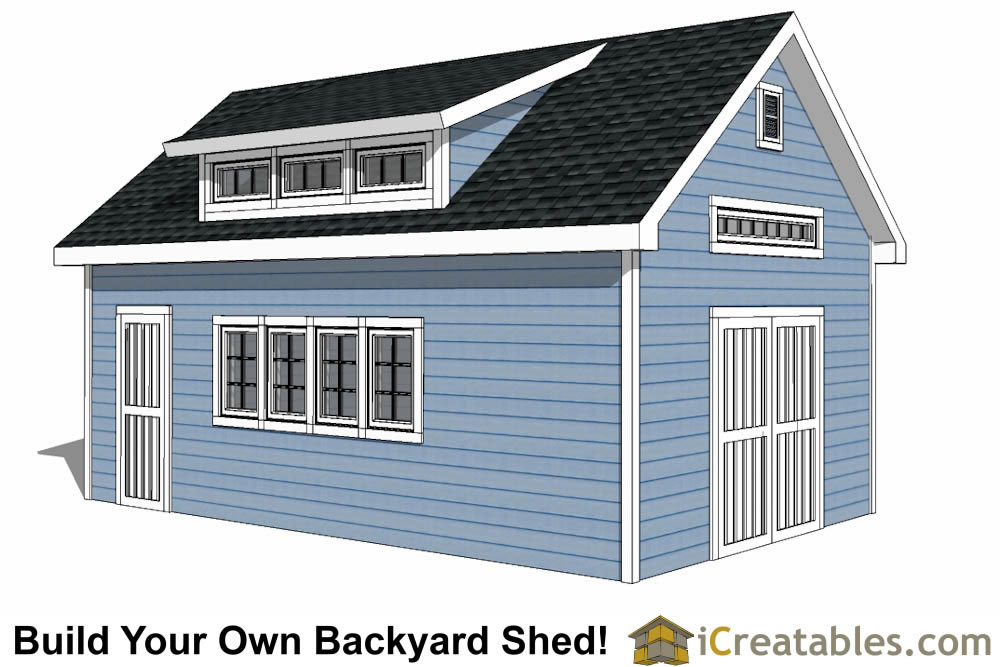 14x24 Shed Plans With Dormer Icreatables Com