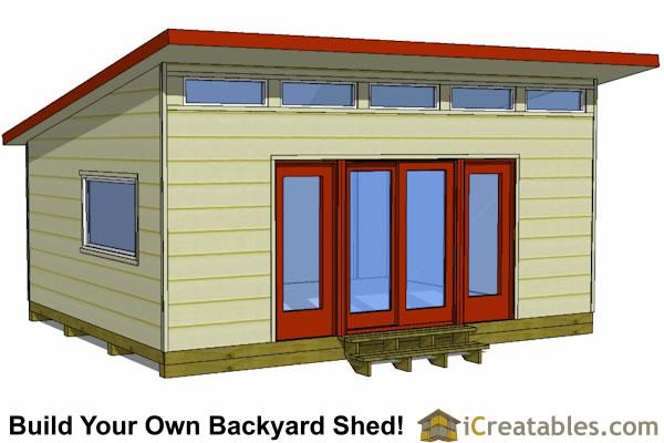 16x20 Shed Plans - Build a Large Storage Shed - DIY Shed Designs