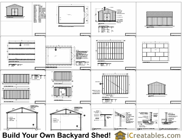 16x24 Floor Plan : Shed plans large