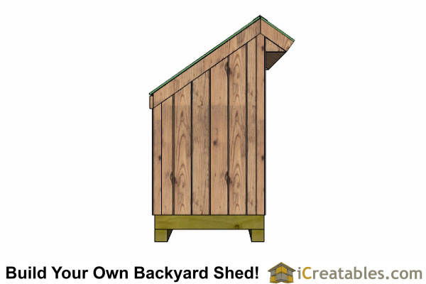 Firewood Storage Shed - Lean-to Shed - Backyard Shed Plans