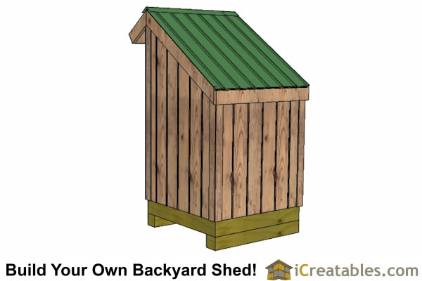 Diy shed cost open front wood shed plans cheap 7 x 5 for Open front shed