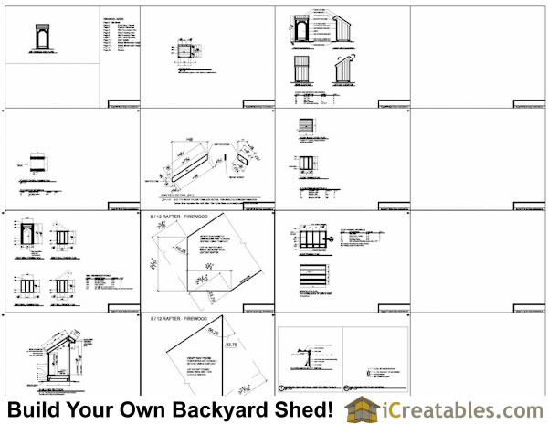 Building Plans For 4x4 : Small firewood storage lean to shed plans outdoor