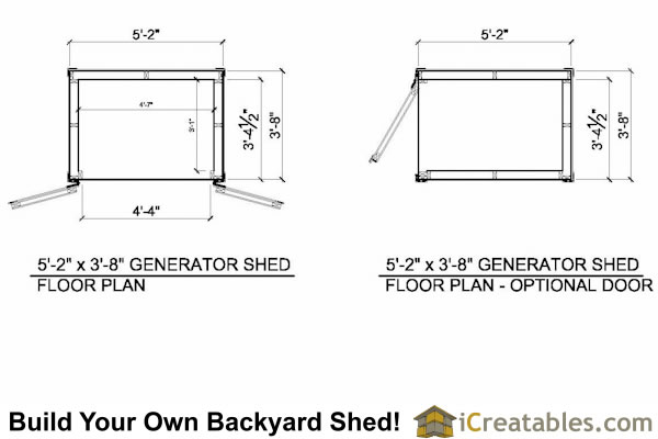 5x4 generator enclosure plans 5x4 generator shed plans for Floor plan generator free