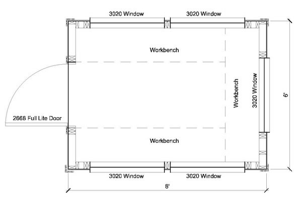 6x8 greenhouse shed plans storage shed plans for Greenhouse floor plan