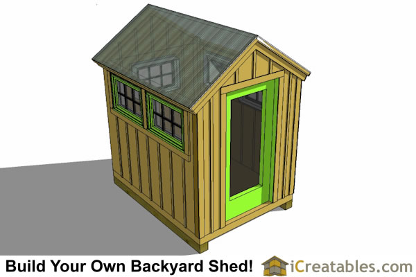 6x8 Greenhouse Shed Plans Storage Shed Plans