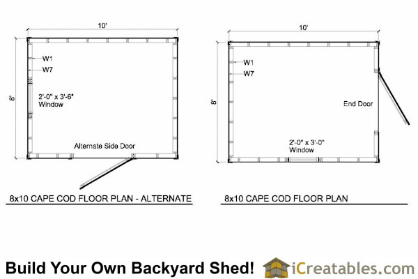 8x10 cape cod shed plans storage shed plans for Cape cod shed plans
