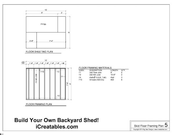 how to build a 8x10 shed