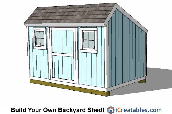 8x12 shed plans buy easy to build modern shed designs for Salt shed plans