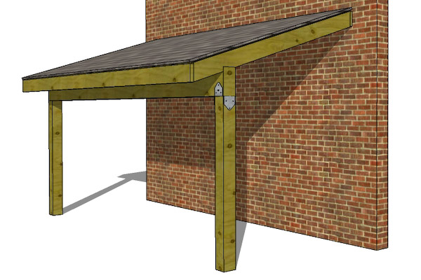 Diy How To Build A Lean To Off A Garage Plans Free